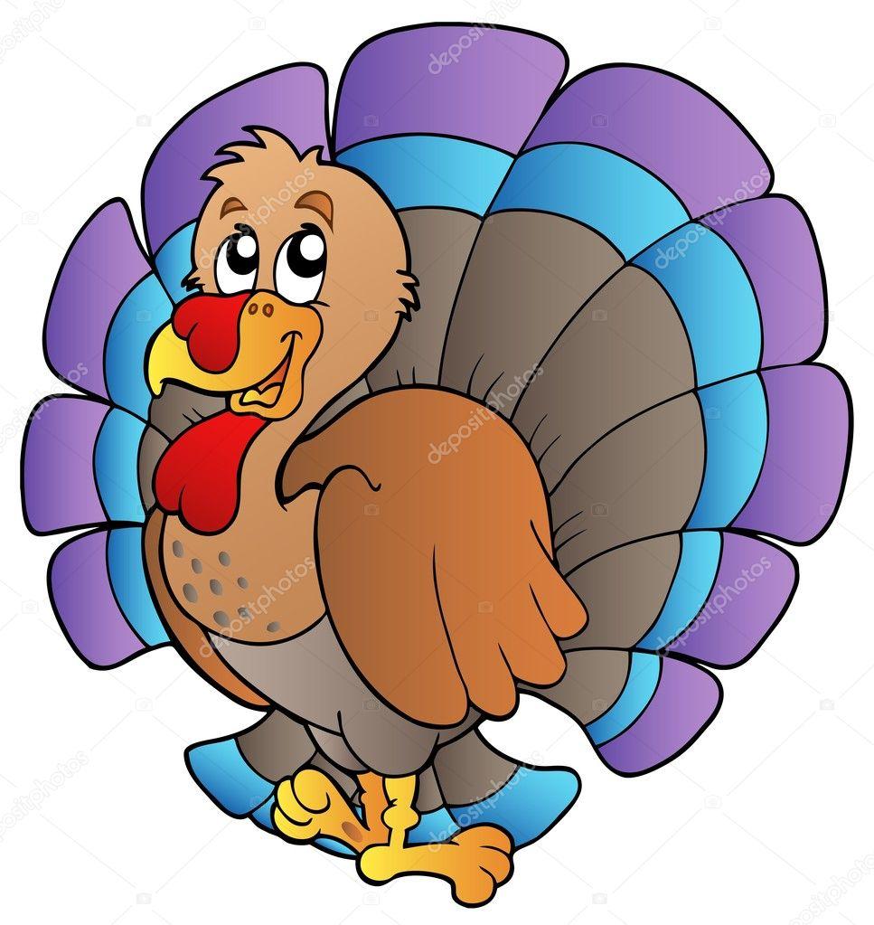 happy cartoon turkey u2014 stock vector clairev 4199035