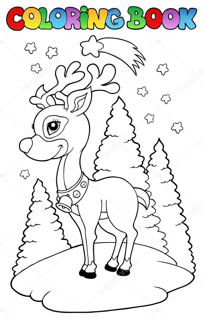Renos De Navidad Para Dibujar Reno De Navidad Para