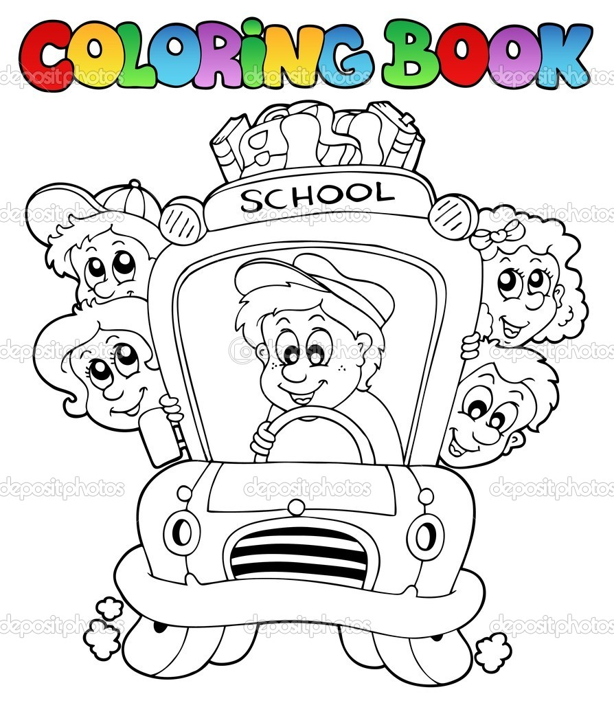Coloring book school - Coloring Book With School Images 3 Vector Illustration Vector By Clairev