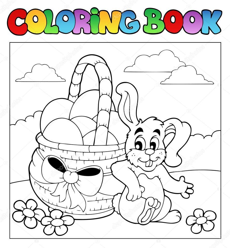 libro para colorear con temática de Pascua 2 — Archivo Imágenes ...