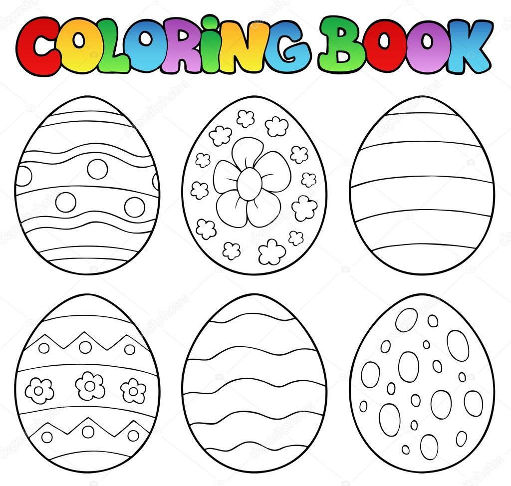 libro de colorear con huevos de Pascua — Archivo Imágenes ...