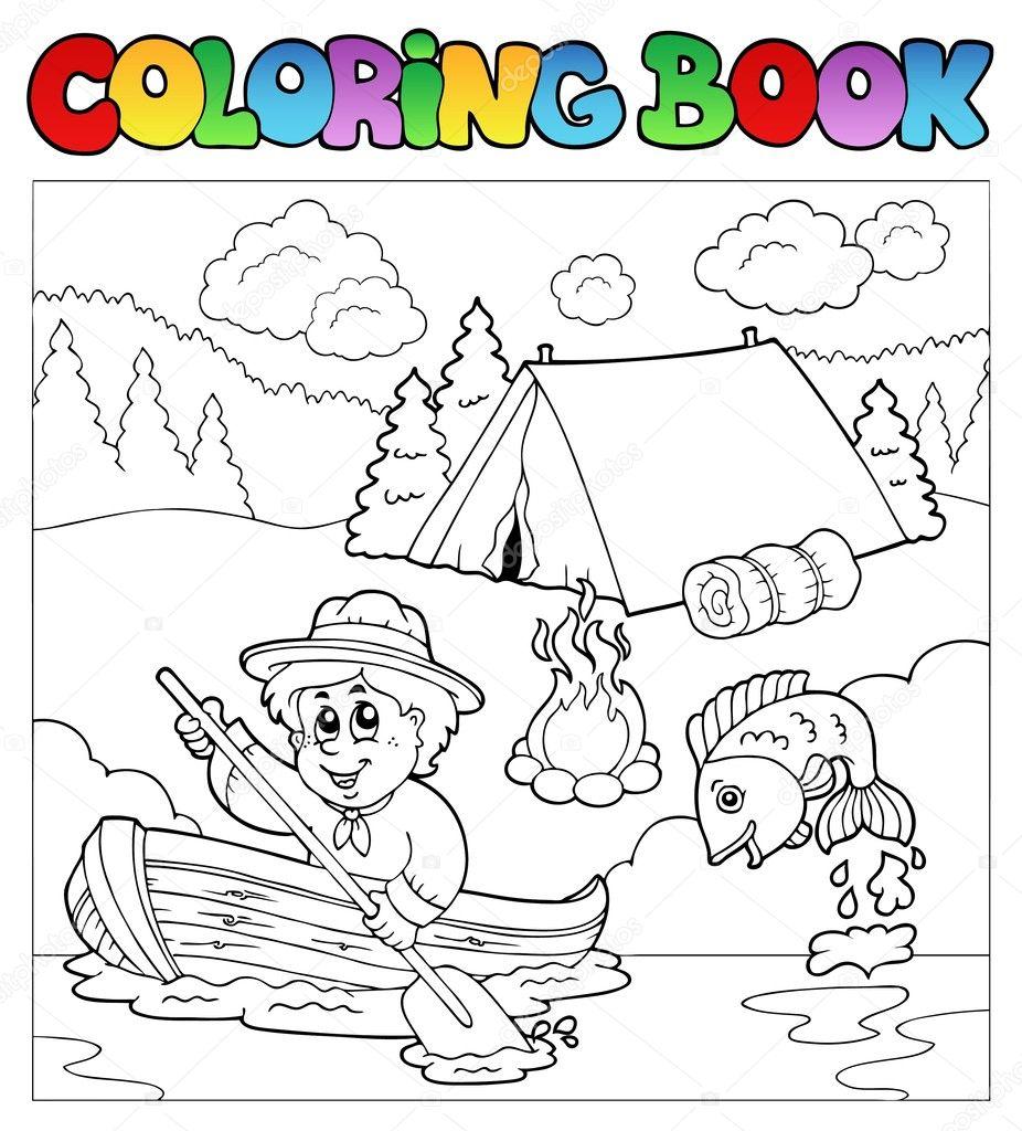 Livre à colorier avec éclaireur en bateau 40