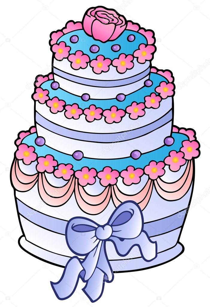 Картинки рисованных тортов