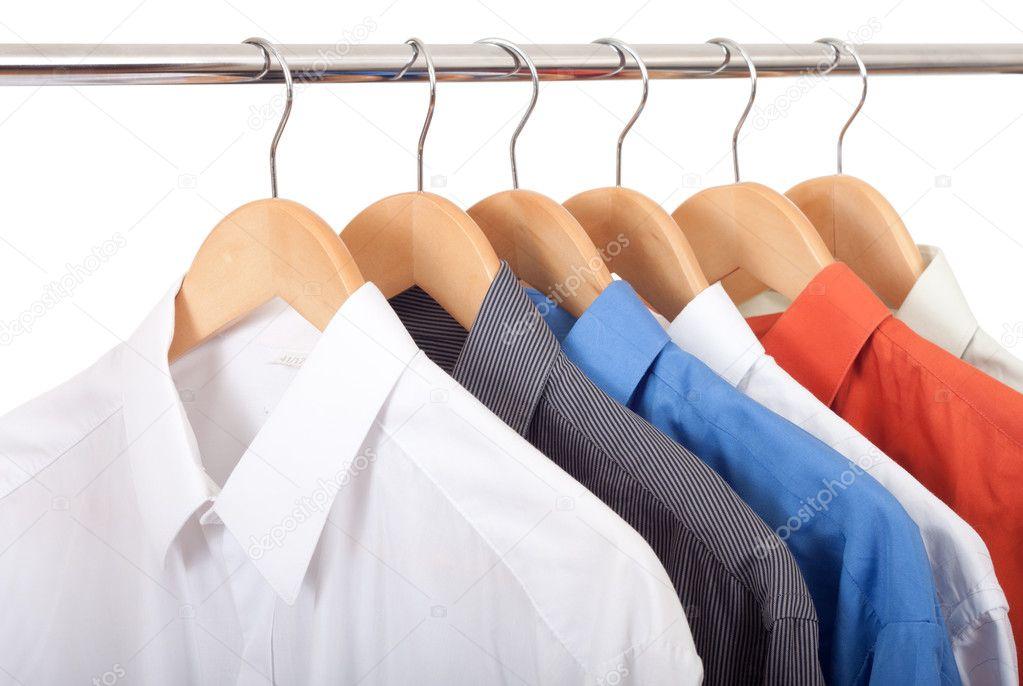 Colgador de ropa con camisas foto de stock aguirre mar - Colgador de camisas ...