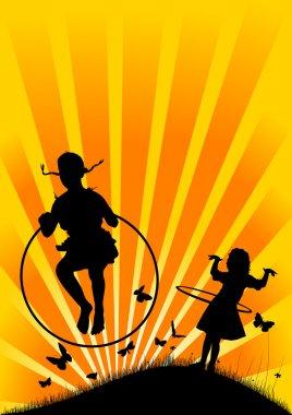 Girl and Hula Hoop