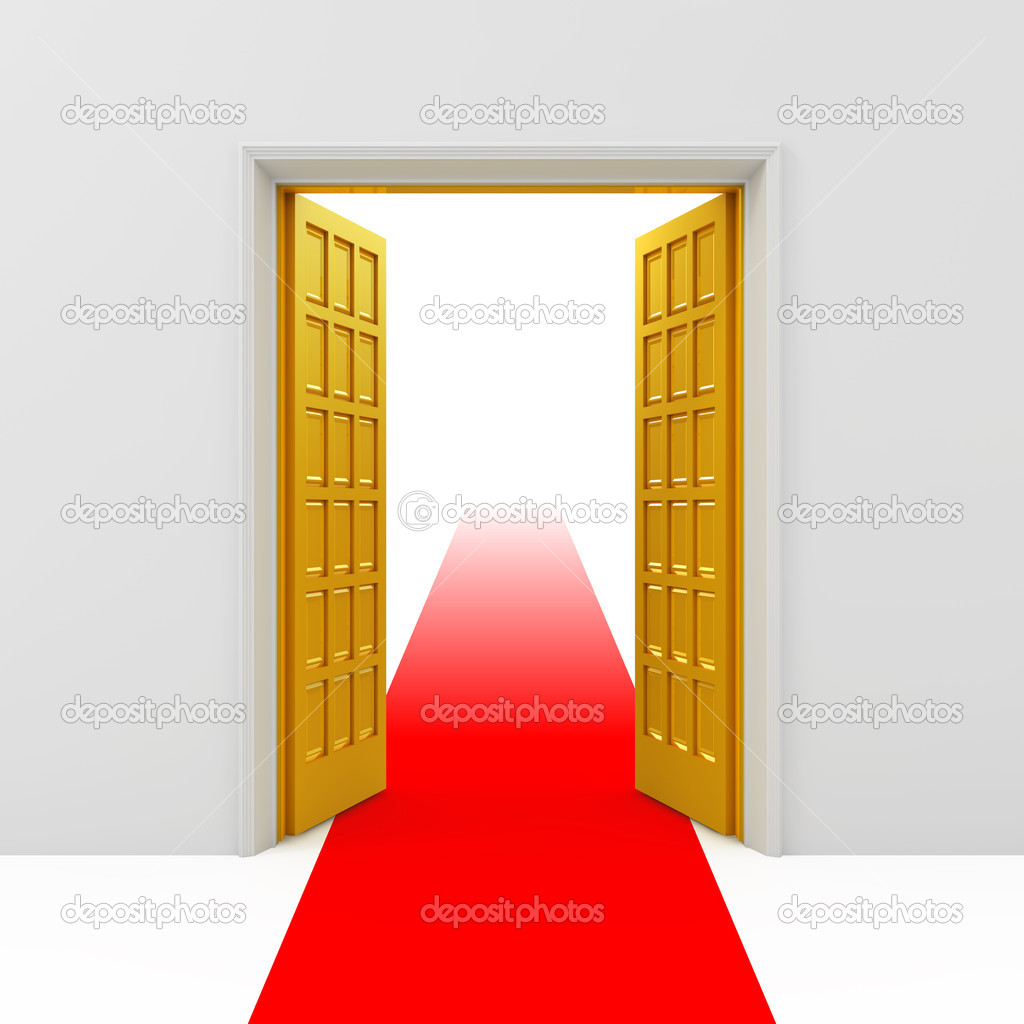 Open golden doors u2014 Stock Photo & Open golden doors u2014 Stock Photo © baurka #5108409