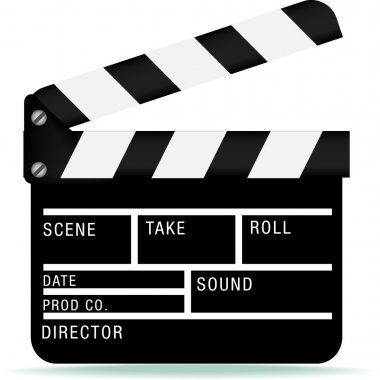 Film industry clapperboard