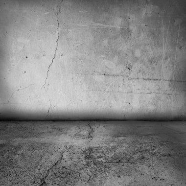 Grunge interior wall and floor