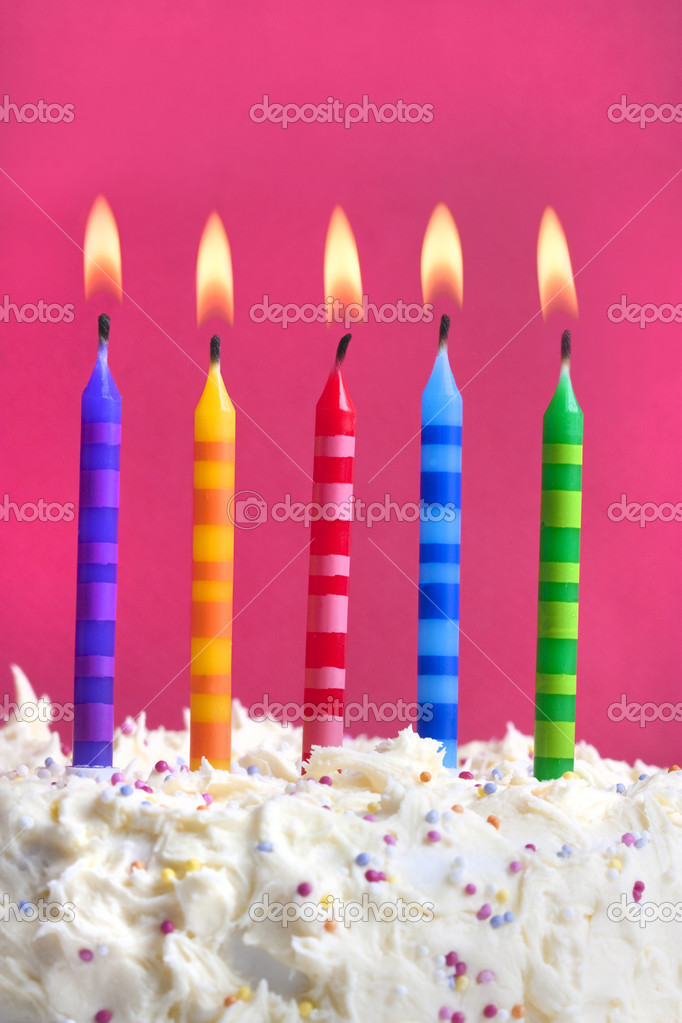 Birthday Candles On A Cake Stock Photo 169 Joingate 4750459