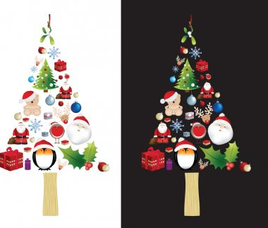 Christmas tree very detailed illustration