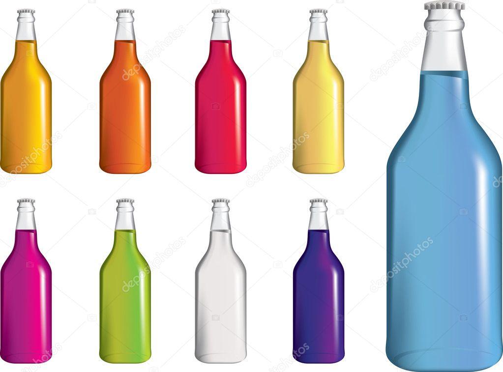 ensemble de bouteilles de drinnk de soude ou alcopops fizzy image vectorielle joingate 4912060. Black Bedroom Furniture Sets. Home Design Ideas