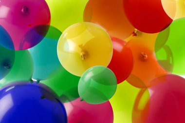 Balloon background with many colours