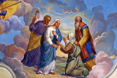 """Картина, постер, плакат, фотообои """"Посещения Пресвятой Девы Марии"""", артикул 5000328"""