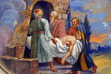 "Картина, постер, плакат, фотообои ""Иисус заложил в могиле"", артикул 5000682"