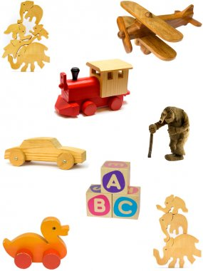 Wooden toy collection