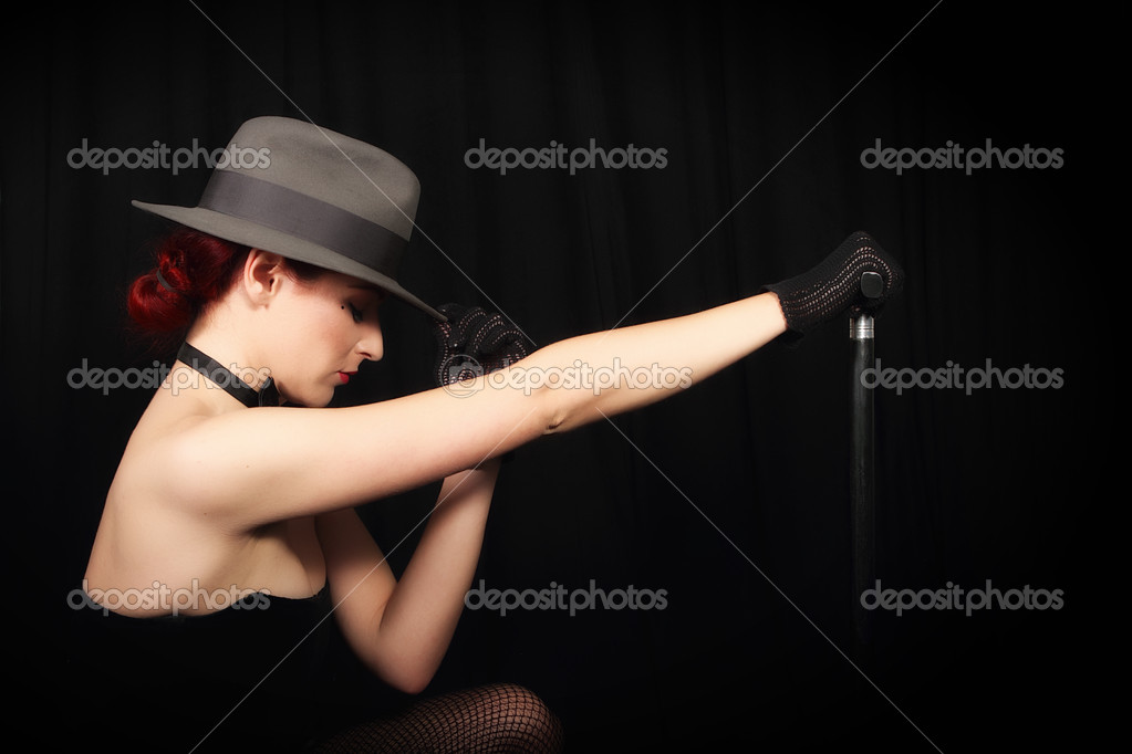 Cabaret Sexy Lady In Black