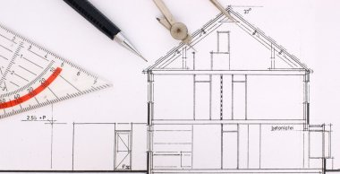 Construction drawing of an house