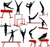 Fotografie Gymnastics silhouettes