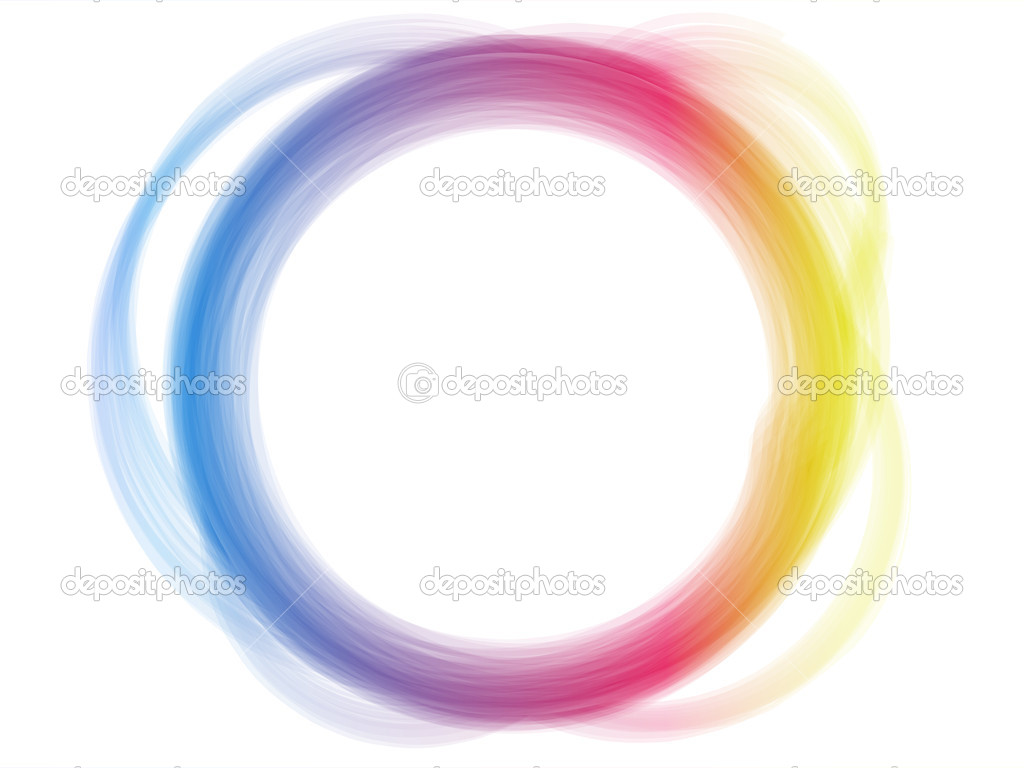 Rainbow Circle Border Brush Effect.