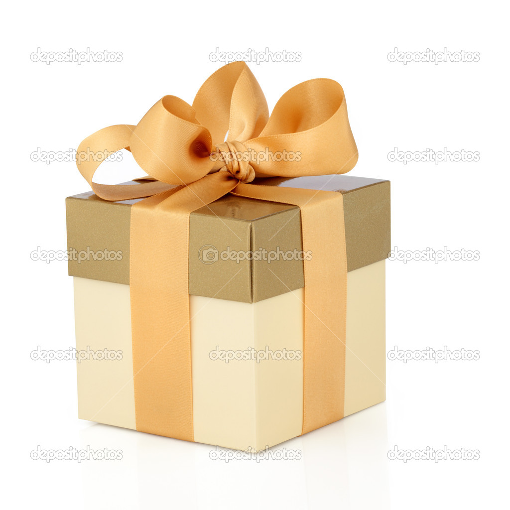 Gift Box with Gold Bow