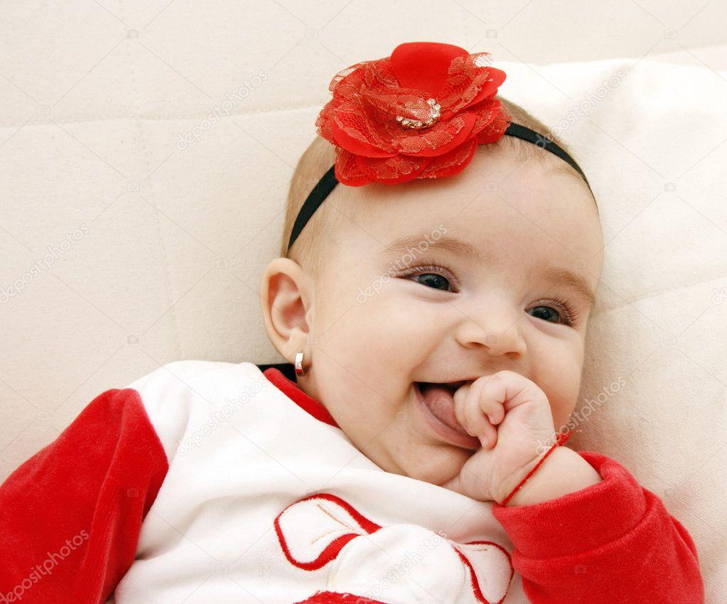 beautiful baby girl — stock photo © karuka #4587864