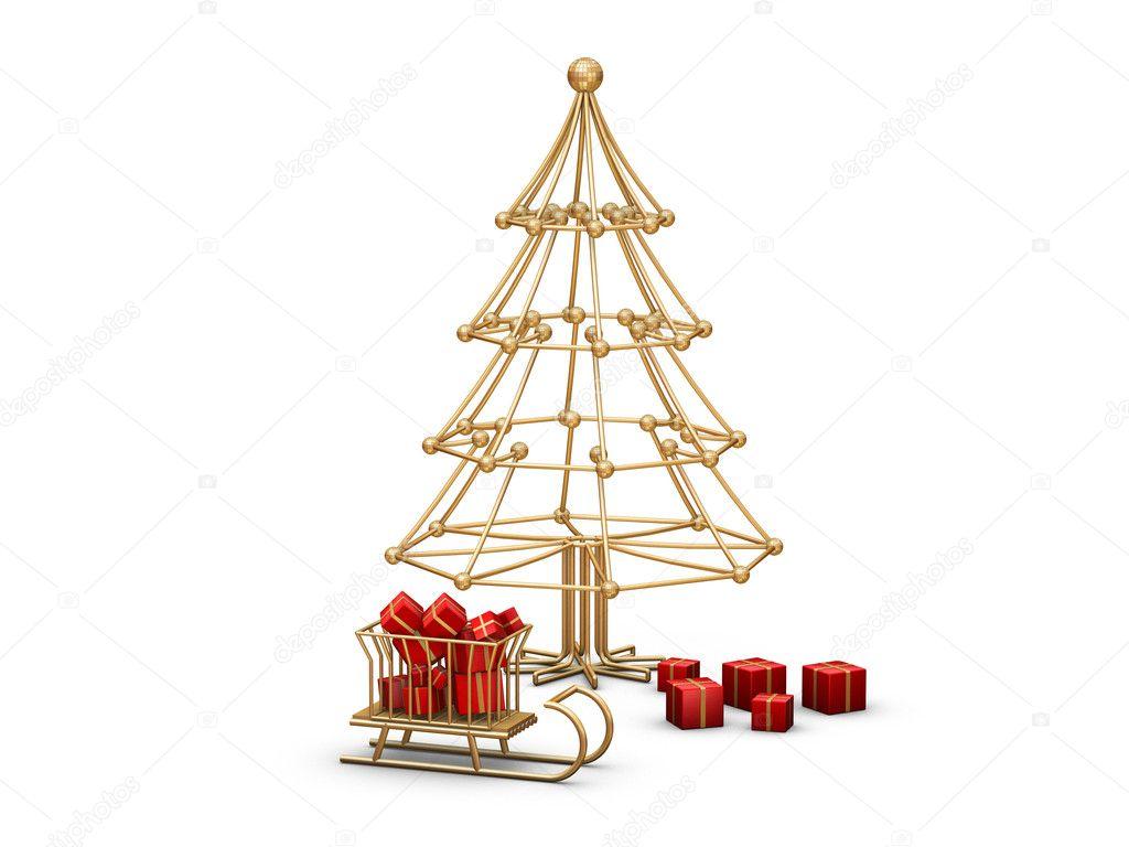 Weihnachtsbaum Draht weihnachtsbaum-draht — stockfoto © desert_fox99 #3925323