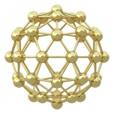 Spherical golden molecular grid