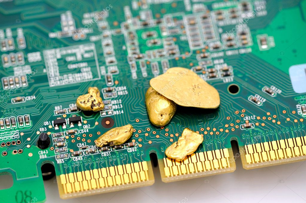 Gold And Circuitry