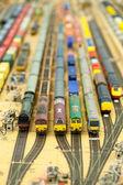 Fotografie Miniatur-Güterbahnhof