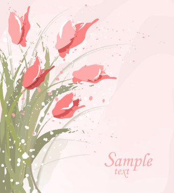 Eps10 vector flower background