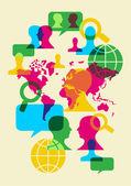 Sociální sítě komunikační symboly