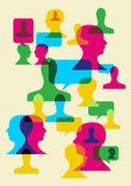 Társadalmi interakció szimbólumok