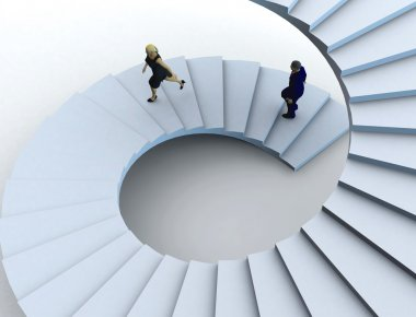 Staircase to the success.