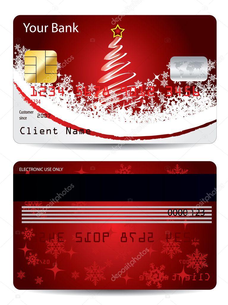 Christmas credit card design — Stock Vector © vipervxw #4168900