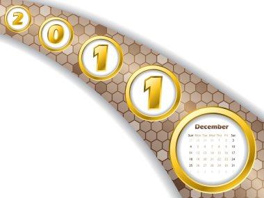 2011 december stripe calendar