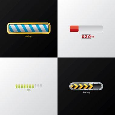 Progress indicators clip art vector