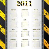 Fényképek 2011 naptár grunge figyelmeztetés háttérrel
