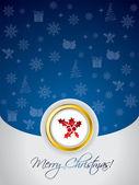 kék karácsonyi üdvözlőlap