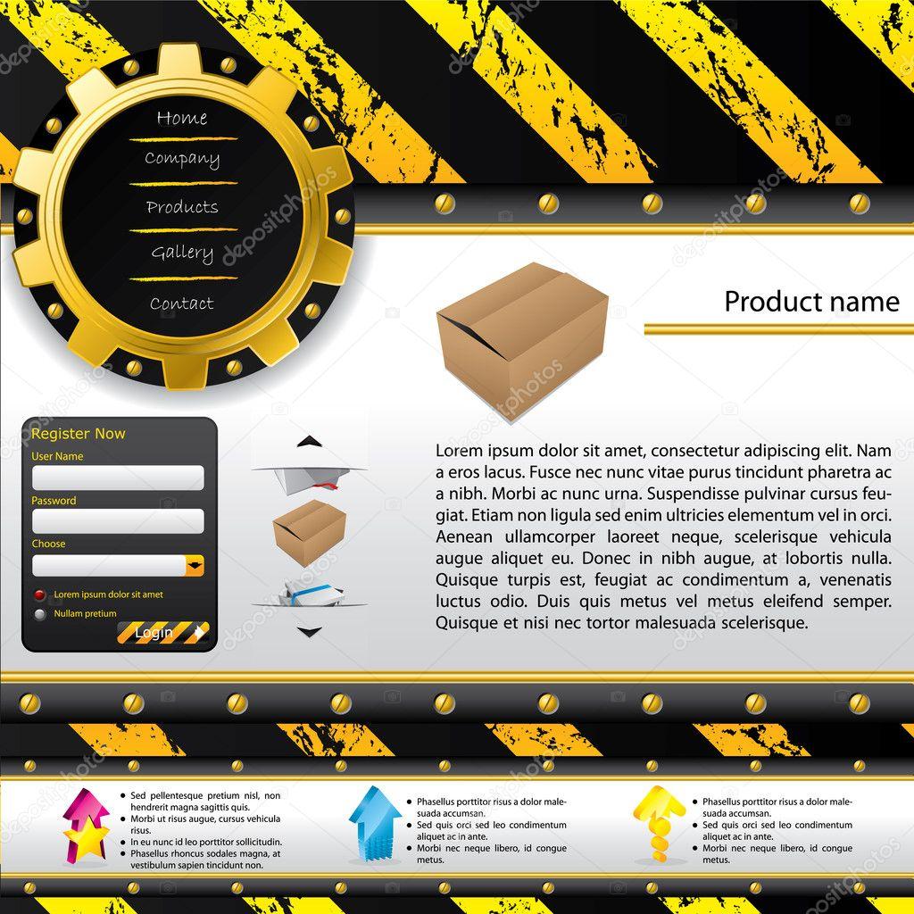 Construction design web template — Stock Vector © vipervxw #4948204