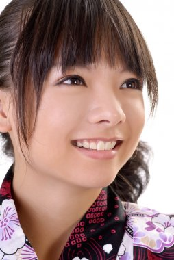 Smiling japanese girl