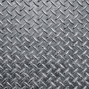 Background of metal diamond plate in silver color. stock vector