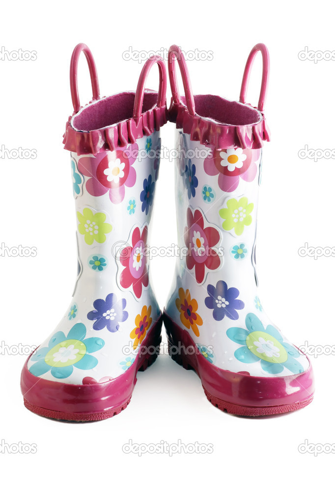 Little girl gumboots