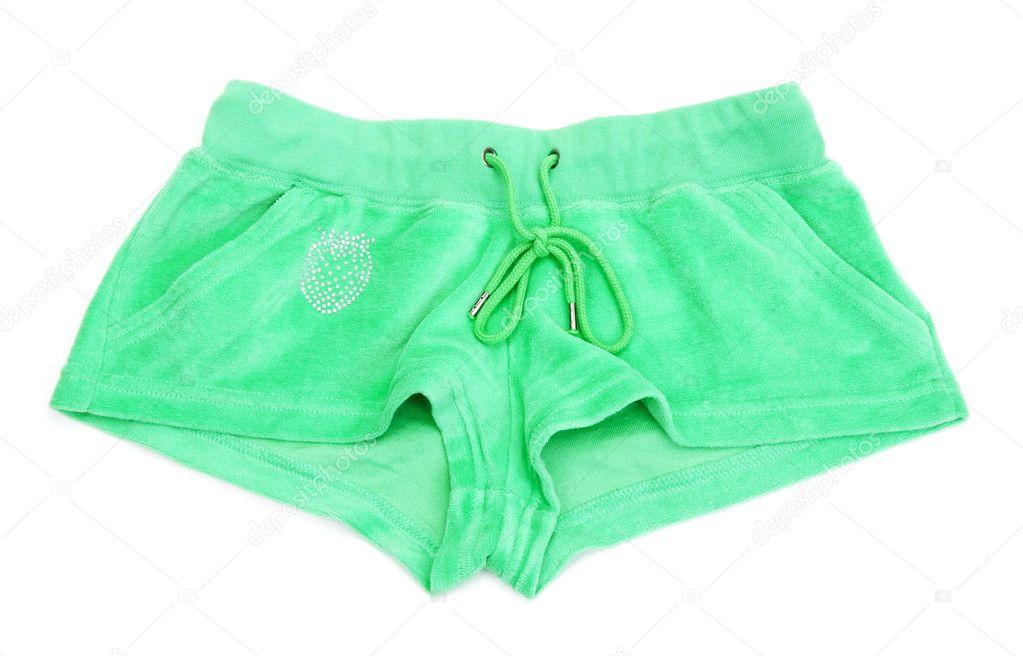 75aafd2b88 Grüne damen shorts mit einem muster in form von erdbeeren auf weißem  hintergrund — Foto von Ruslan