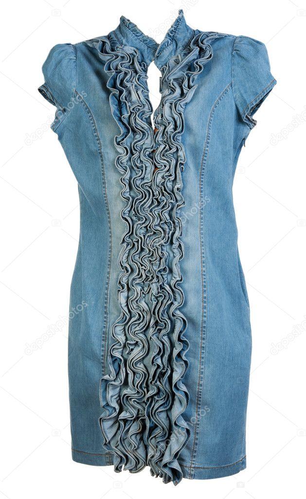 cbf2082ca7dd vestido de brim azul — Stock Photo © Ruslan #5151400