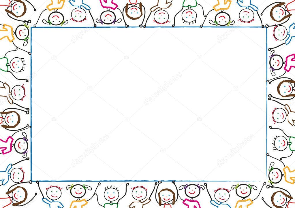 Kids frame — Stock Vector © justaa #4511070