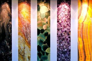 Five marble stones