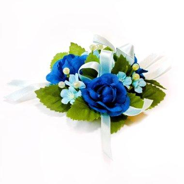 Blue corsage