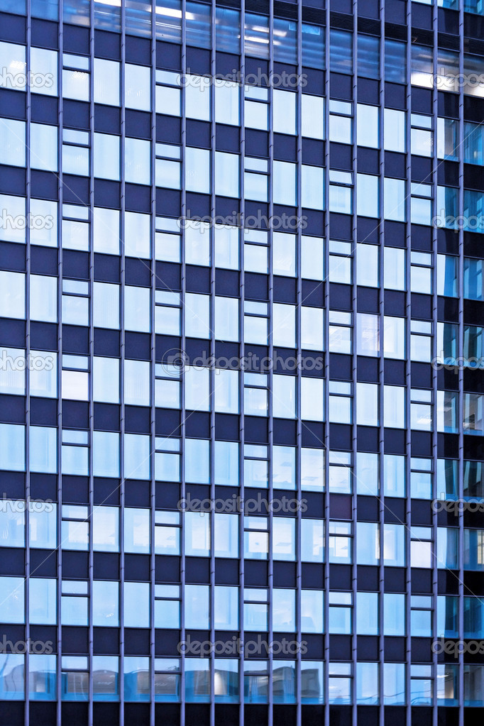 Glasfassade textur  Blaue Glasfassade — Stockfoto © Baloncici #4876526
