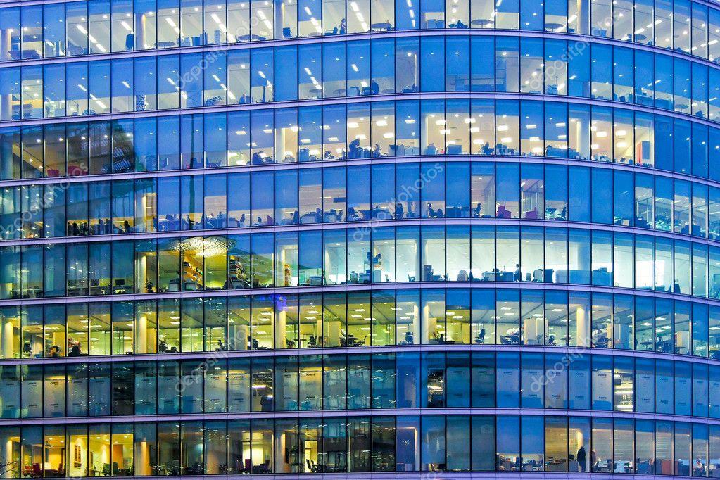 Blue office windows
