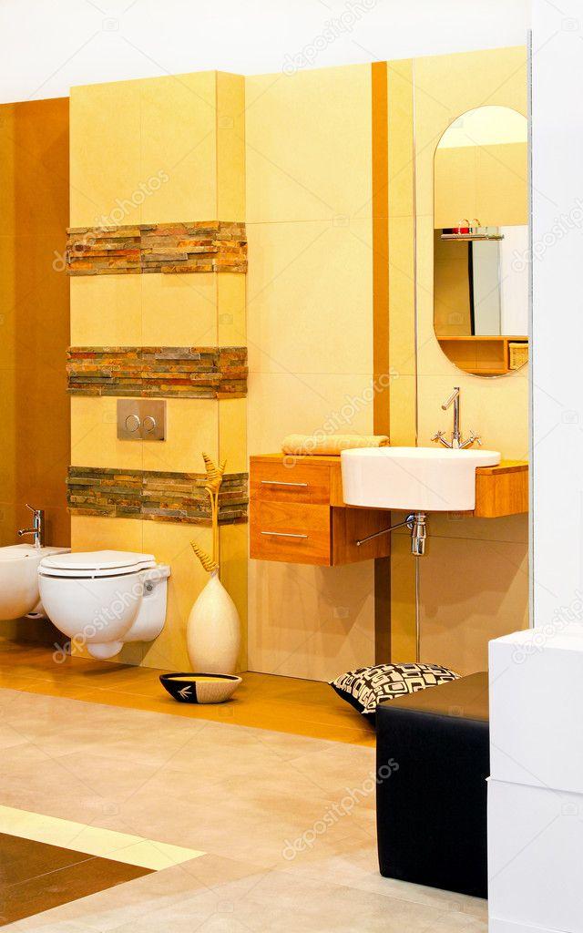 gele badkamer — Stockfoto © Baloncici #4890359